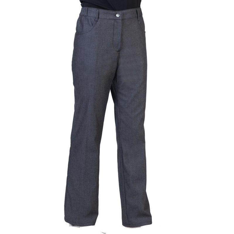 Pantalon de cuisine noir denim patsy