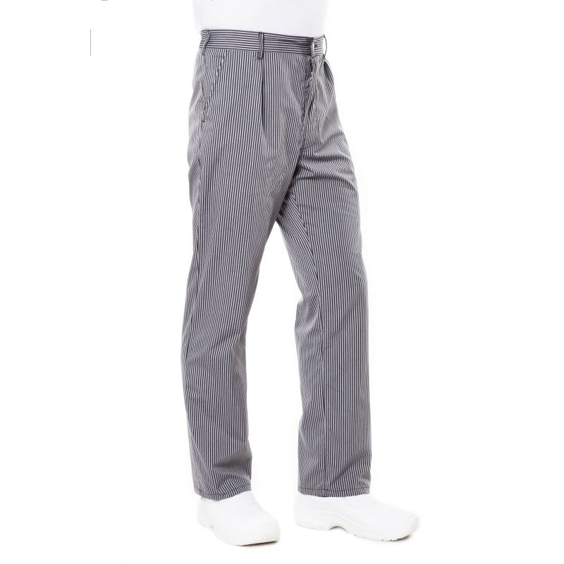 Pantalon de cuisine rayé prixu