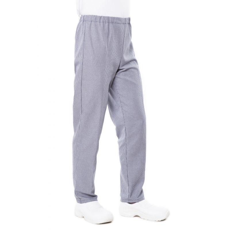 Pantalon de cuisine mixte pied de poule pliki