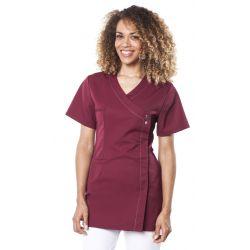 Tunique médicale femme margo bordeaux