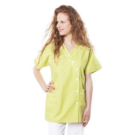 Tunique médicale femme timme vert anis