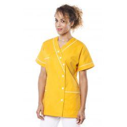 Tunique médicale femme timme jaune souffre