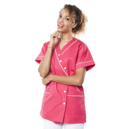 Tunique médicale femme timme fuchsia