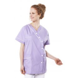 Tunique médicale femme timme lilas