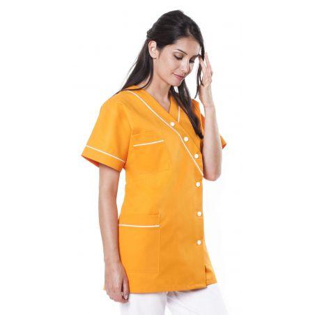Tunique médicale femme timme jaune orange
