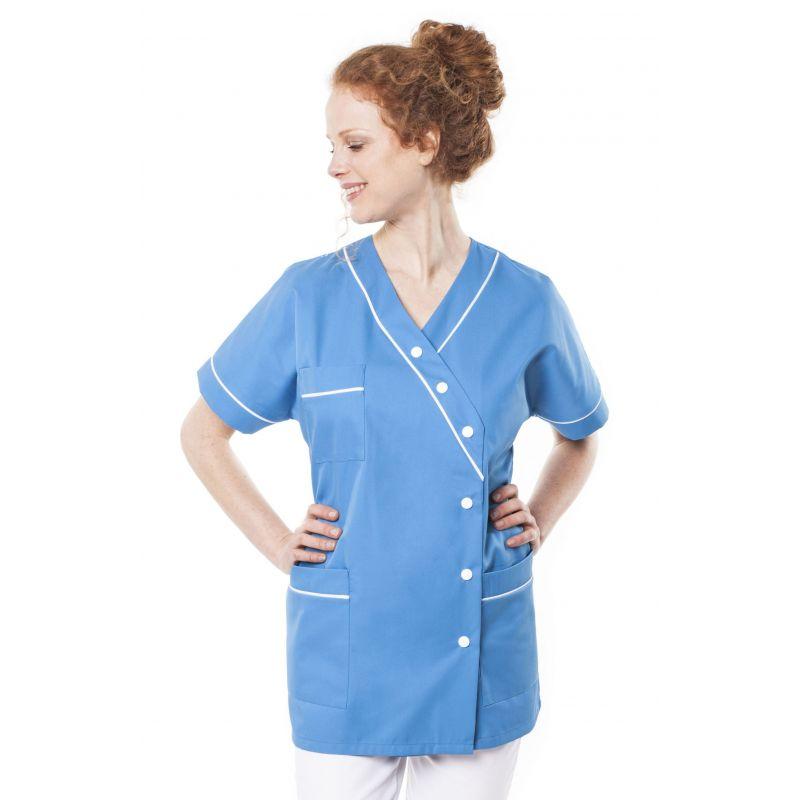 Tunique médicale femme timme bleu