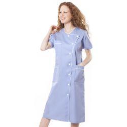 Blouse médicale femme baffa bleu ciel/liseré blanc