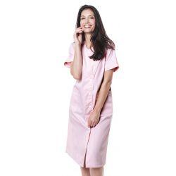 Blouse médicale femme baffa rose/liseré blanc