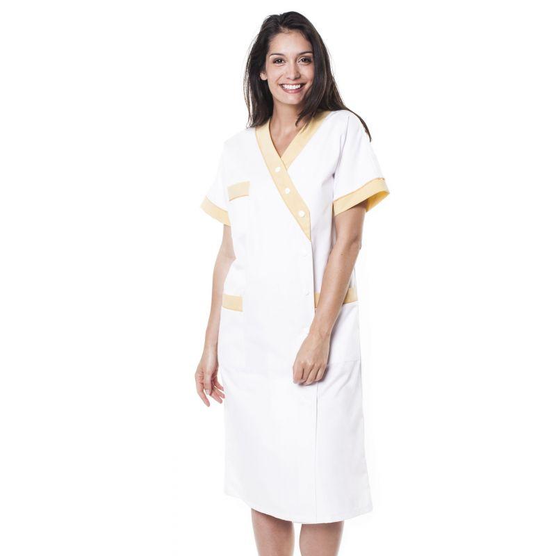 Blouse médicale femme brimi blanc/jaune