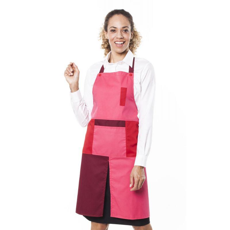 Tablier de service mixte glavu rose/rouge/bordeaux