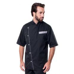 Veste de cuisine mixte trizi noir manches coudes