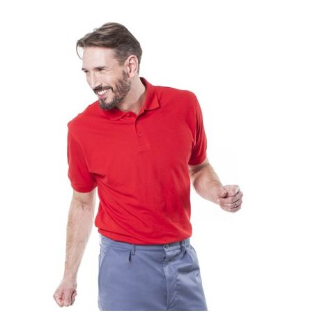 Polo homme rouge 100% coton