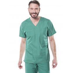 Tunique médicale mixte tivio vert opératoire
