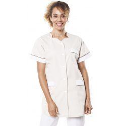 Tunique médicale femme tivry tan/marron