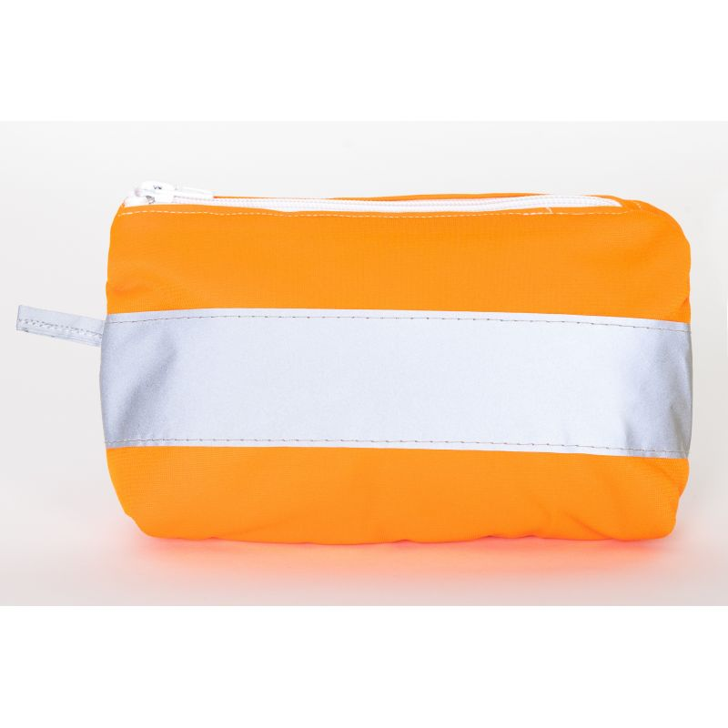 Trousse upcyclée orange