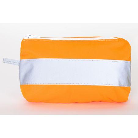 Trousse upcyclée orange