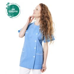 Tunique médicale Traxa bleu en tencel