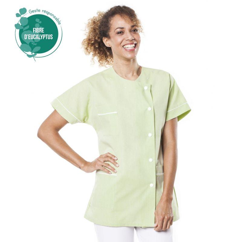 Tunique médicale Traxa vert en tencel