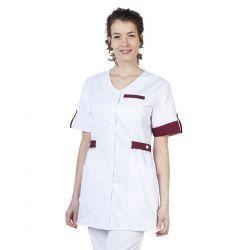 Tunique médicale femme Manon bordeaux