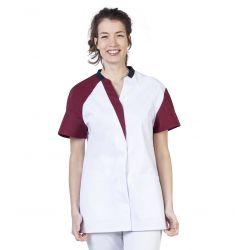 Tunique médicale femme Maude bordeaux