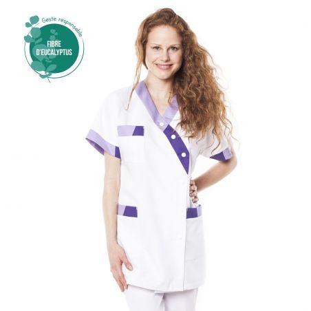 Tunique médicale femme Timbi tencel lilas