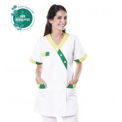 Tunique médicale femme Timbi tencel vert