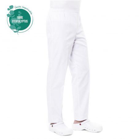 Pantalon médical femme blanc tencel prixi