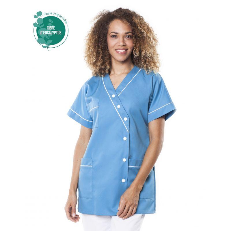 Tunique médicale femme tencel timme bleu