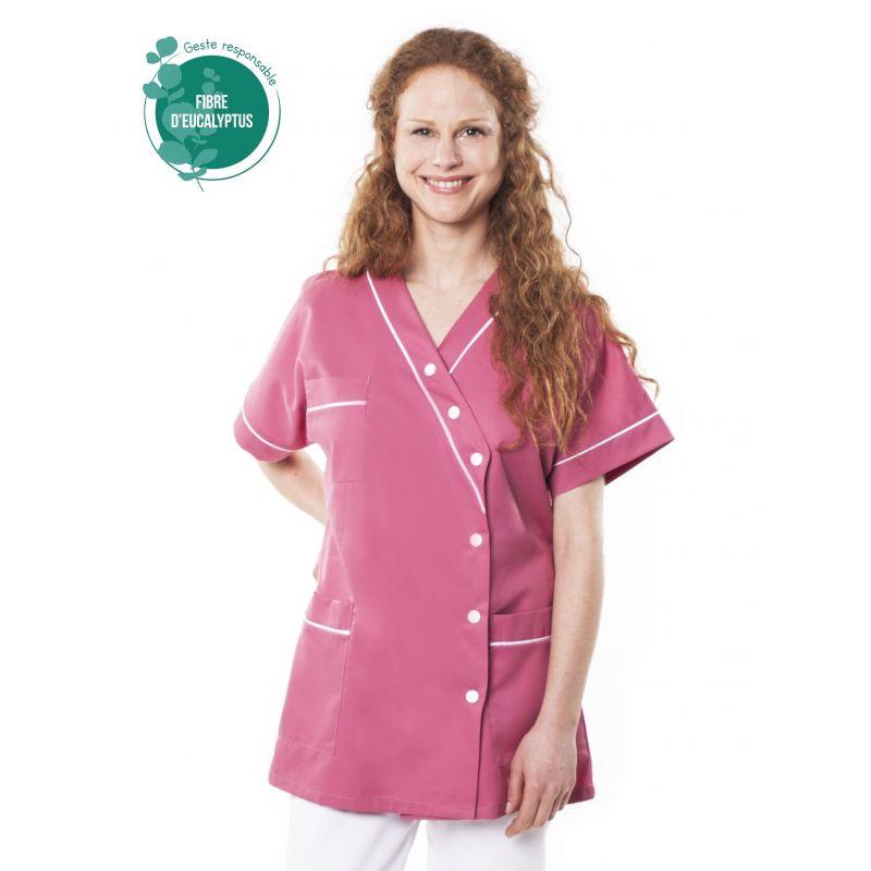 Tunique médicale femme tencel timme bois de rose