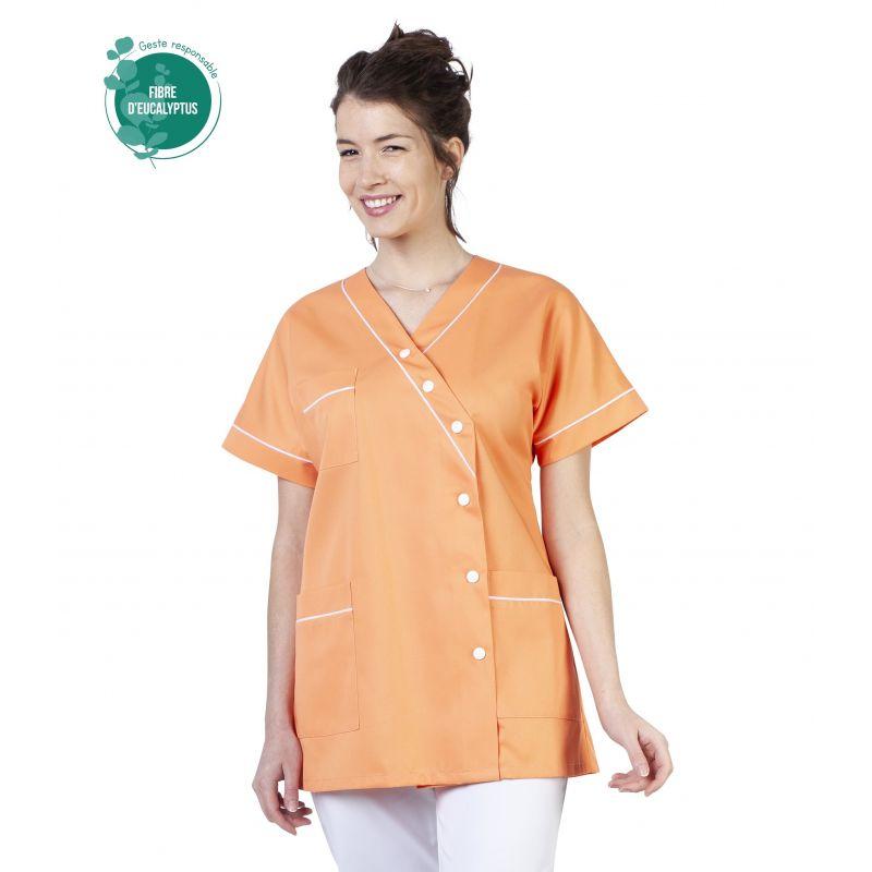 Tunique médicale femme tencel timme abricot
