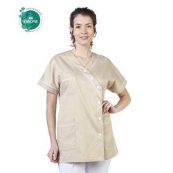 Tunique médicale femme tencel timme beige