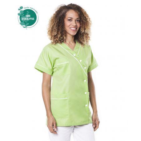 Tunique médicale femme tencel timme vert