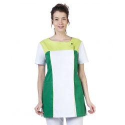 Tunique médicale femme tamil blanc/vert