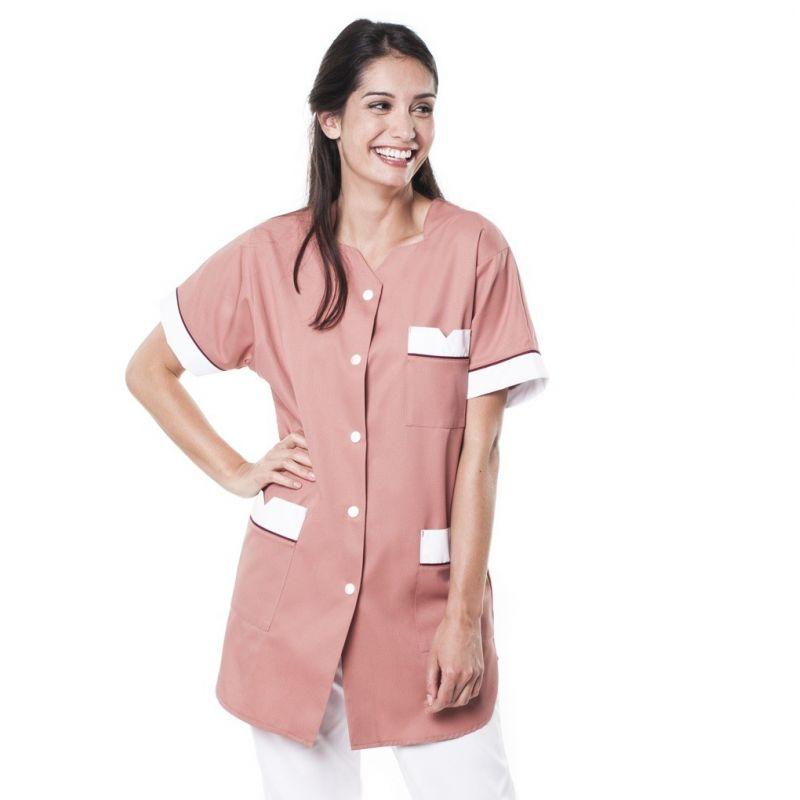 Tunique médicale femme tivry rose/bordeaux
