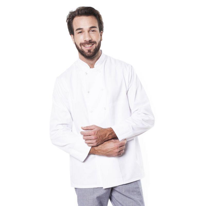 Veste de cuisine mixte trizi blanche 100% coton