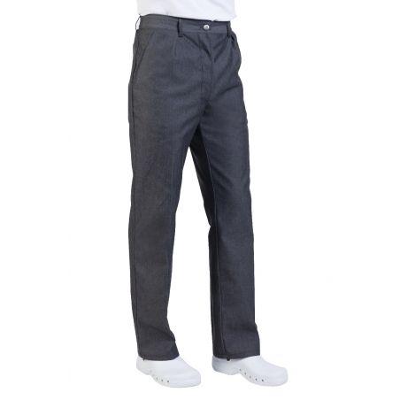 Pantalon de cuisine noir denim