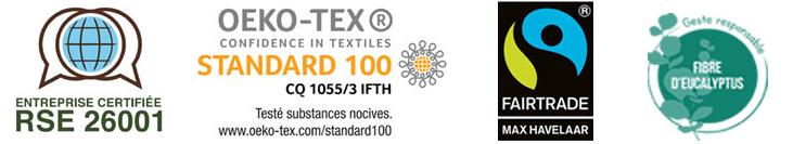 RSE 26001 - Certification Oeko-Tex - Fibre Eucalyptus